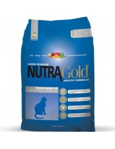Nutra Gold Holistic Indoor Senior Cat - (Gato Adulto Mayor)