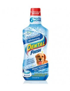 Enjuage Bucal Dental Fresh - Blanqueamiento Avanzado Perros - 17 OZ