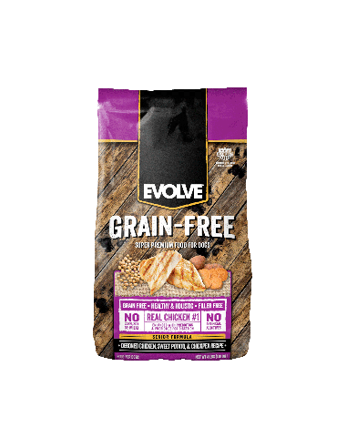 Evolve Dog Grain Free Senior Chicken - Pollo